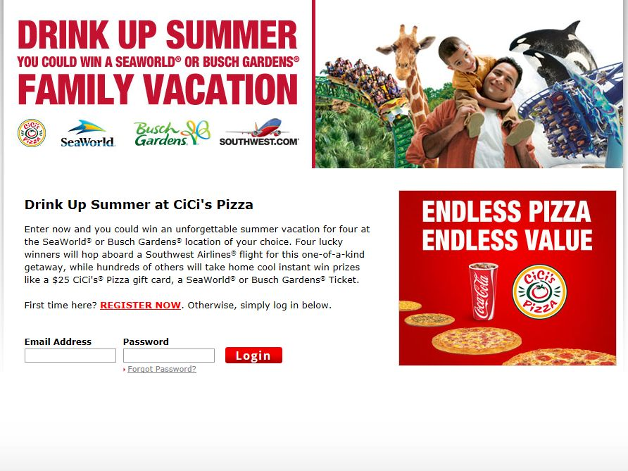 CiCi's Pizza Drink Up Summer Sweepstakes