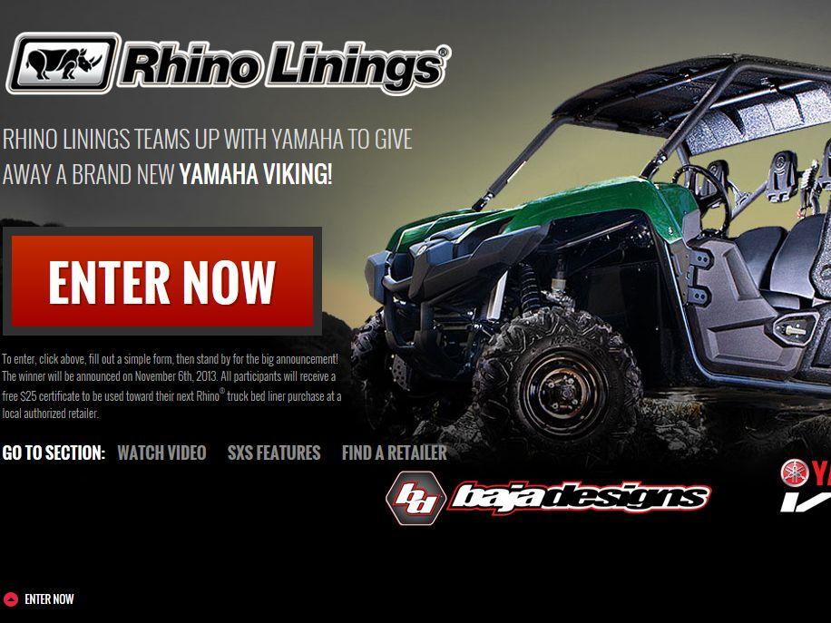 """Rhino Linings """"Yamaha Giveaway"""" Sweepstakes"""