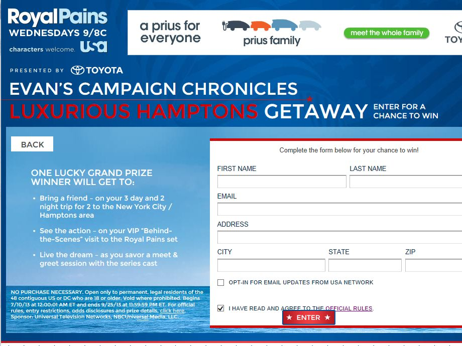 Evan's Campaign Chronicles Luxurious Hamptons Getaway