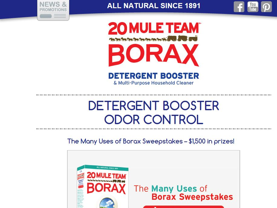 The Many Uses of Borax Sweepstakes