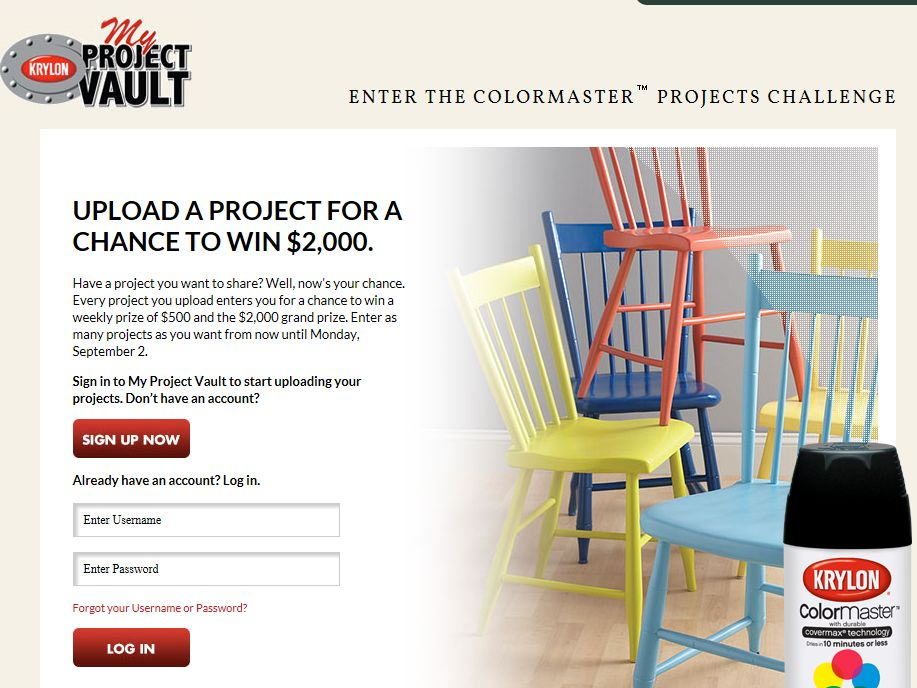 Krylon Projects in a Can Weekly 24-in-24 Sweepstakes