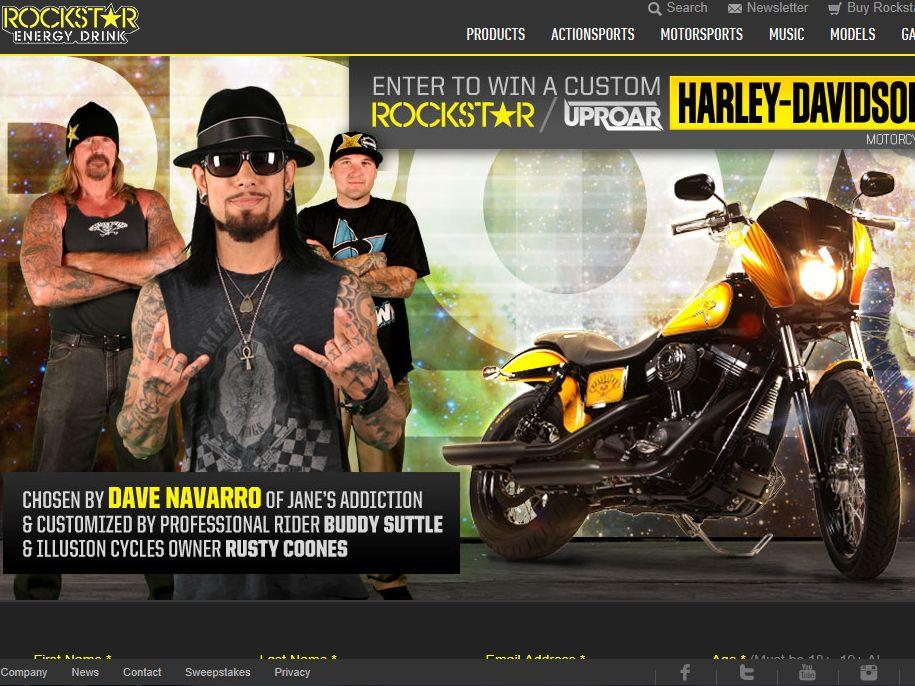 Rockstar Energy Uproar Festival Custom Harley-Davidson Street Bob Sweepstakes