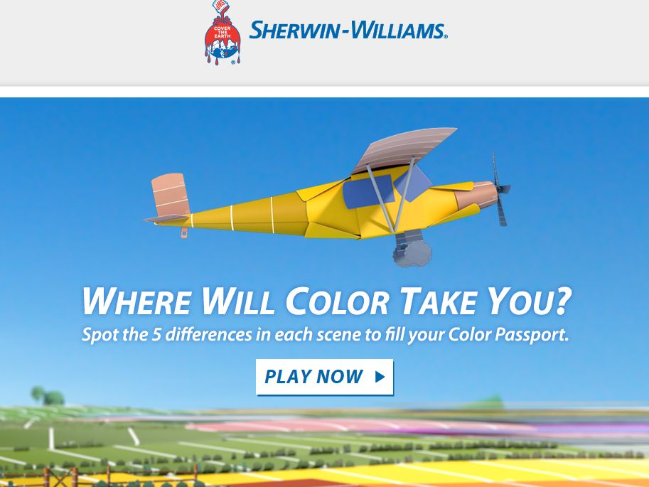 Sherwin-Williams Color Passport Photo Hunt Sweepstakes