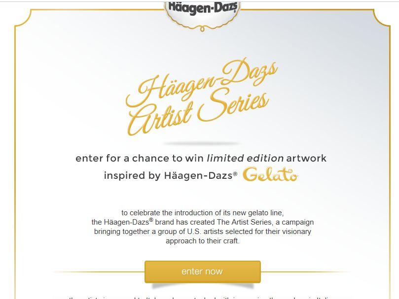 Haagen Dazs Artist Series Artwork Giveaway