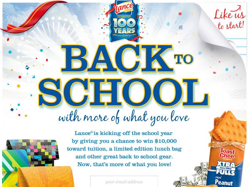 Lance Back to School Sweepstakes