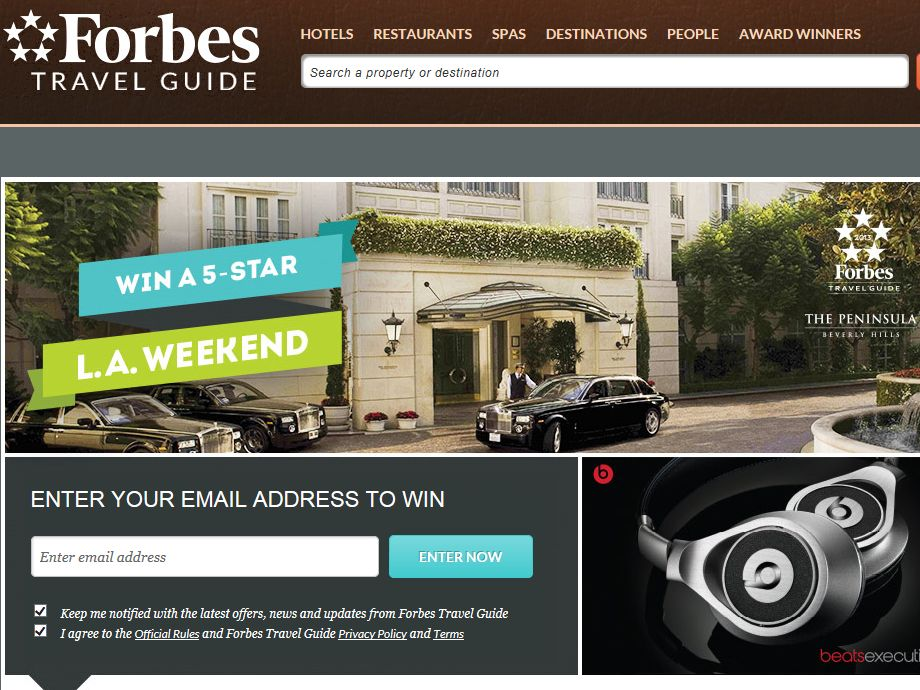 Forbes Win a 5-Star L.A. Weekend Sweepstakes