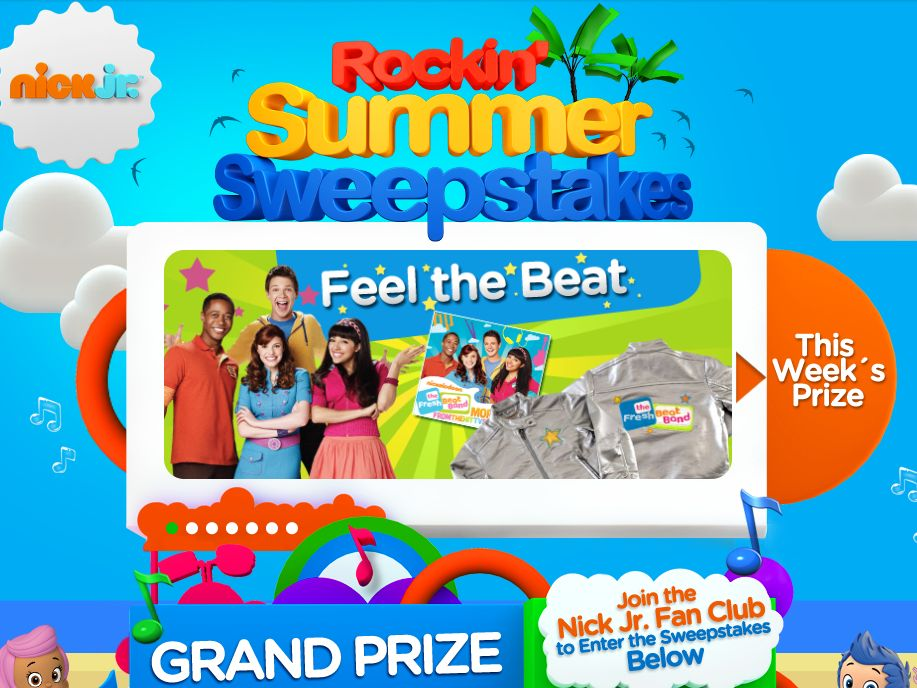 Nick Jr.'s Rockin' Summer Sweepstakes