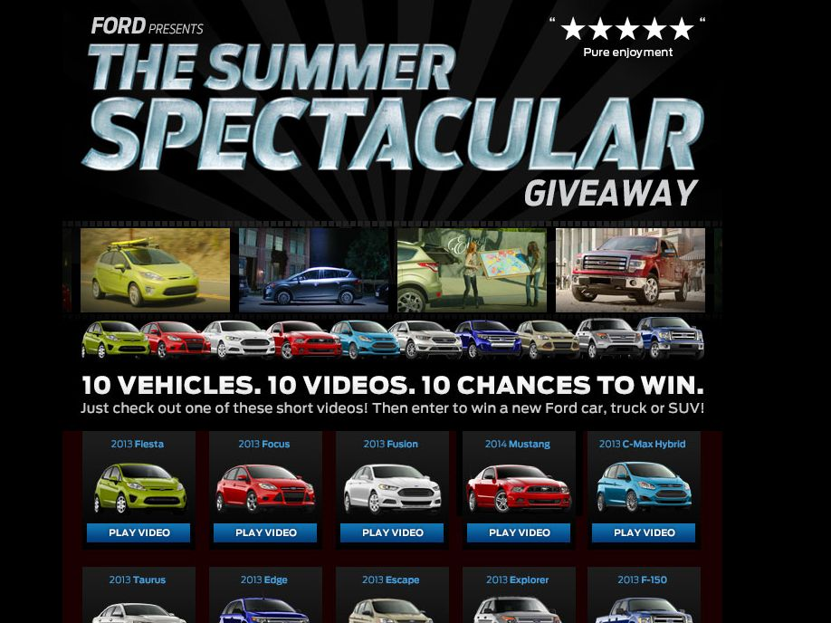 2013 Ford Summer Spectacular Giveaway