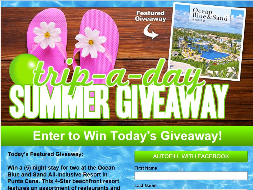 BookIt.com Trip-A-Day Summer Giveaway