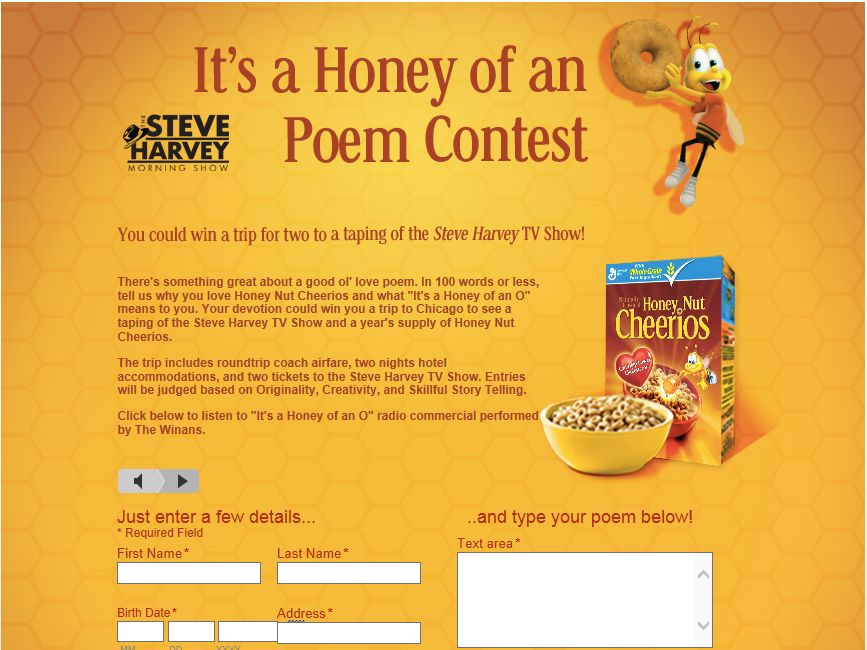 The Steve Harvey Show It's A Honey of an O Poem Contest