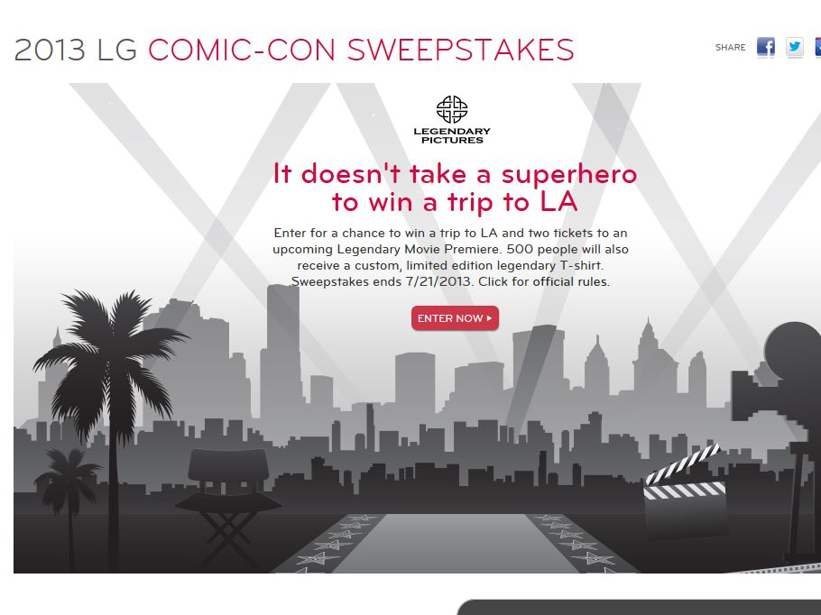 LG Comic-Con Sweepstakes