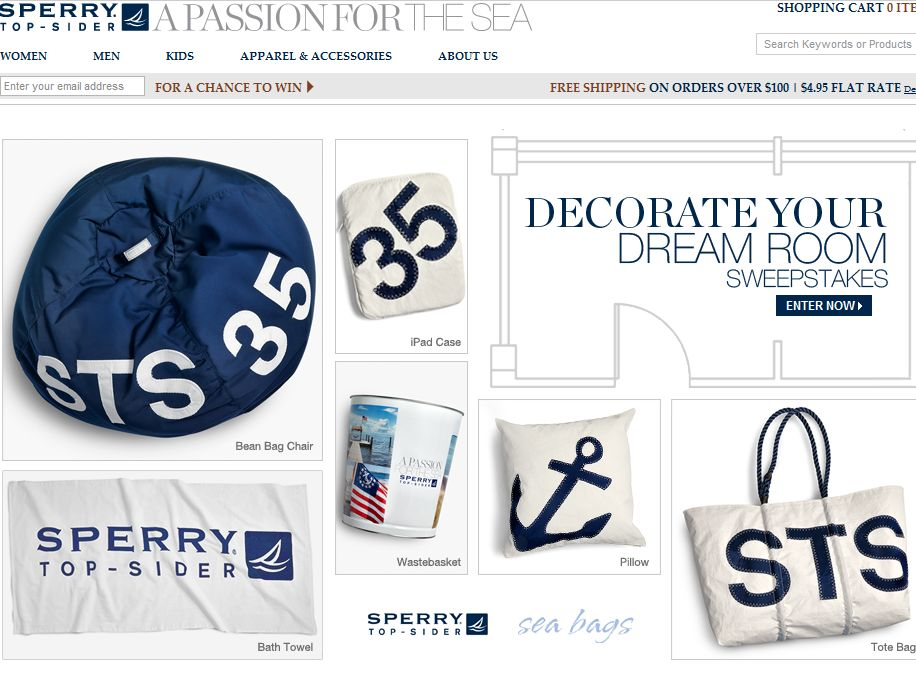 Sperry Top-Sider 2013 Decorate Your Dream Room Sweepstakes
