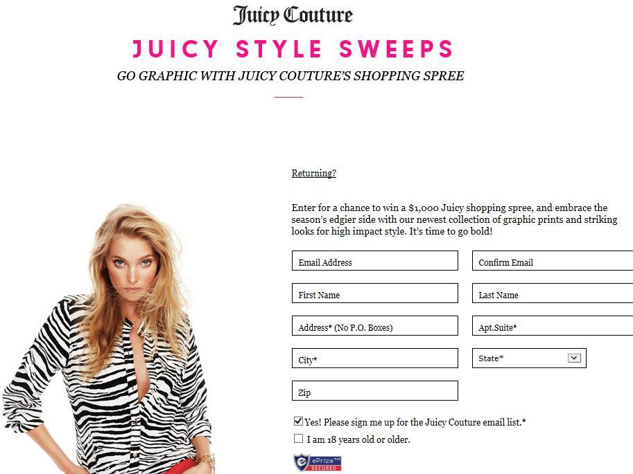 Juicy Style Sweepstakes