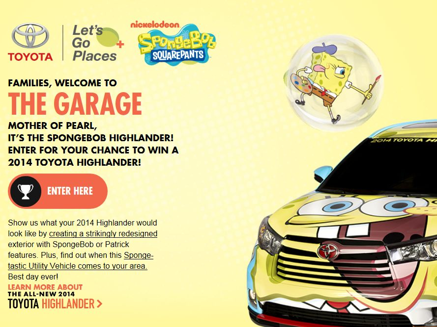 SpongeBob Highlander Sweepstakes