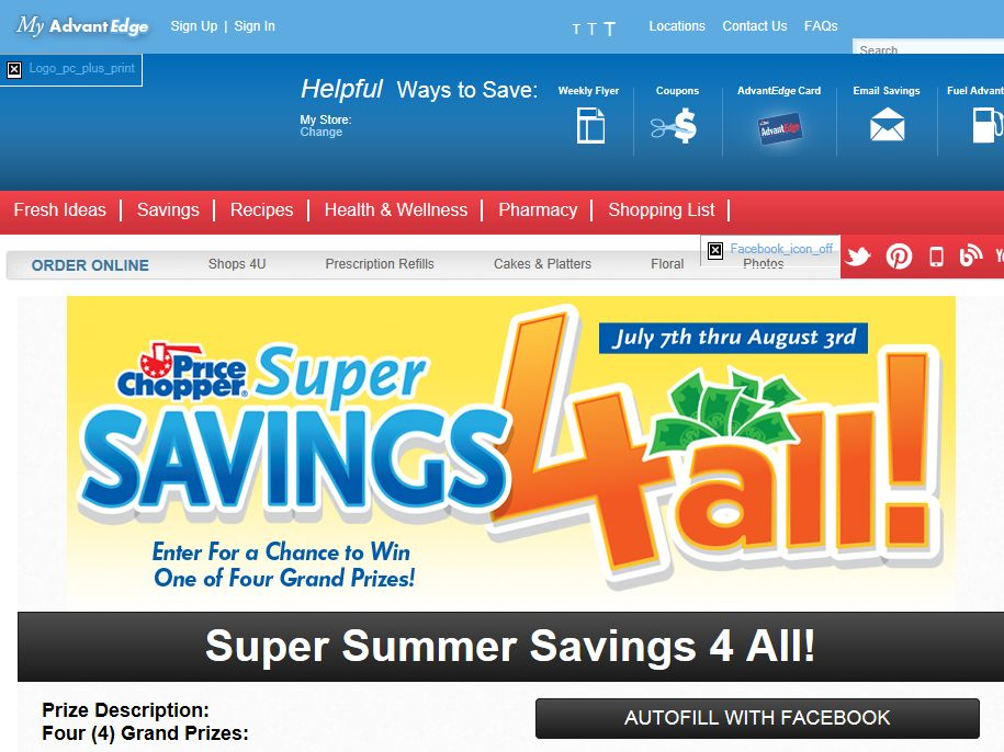 Price Chopper Super Summer Savings 4 All Sweepstakes (Limited States)