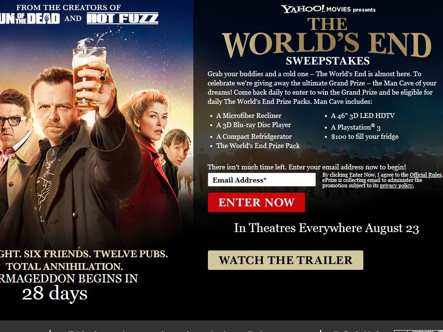 World's End Instant Win and Sweepstakes