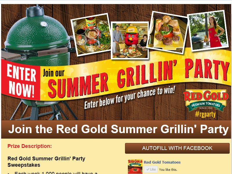 Red Gold Summer Grillin' Party Sweepstakes