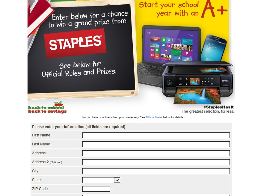 Smartsourse Back to School Back to Savings Sweepstakes