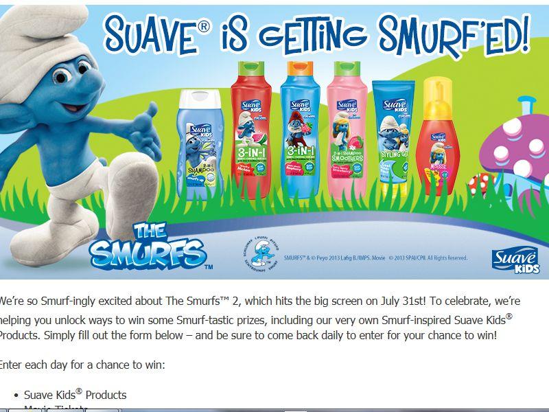 Suave Smurfs Sweepstakes