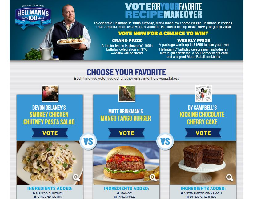 Hellmann's Bringing the Best Together/Hellmann's Making Over the Best Sweepstakes