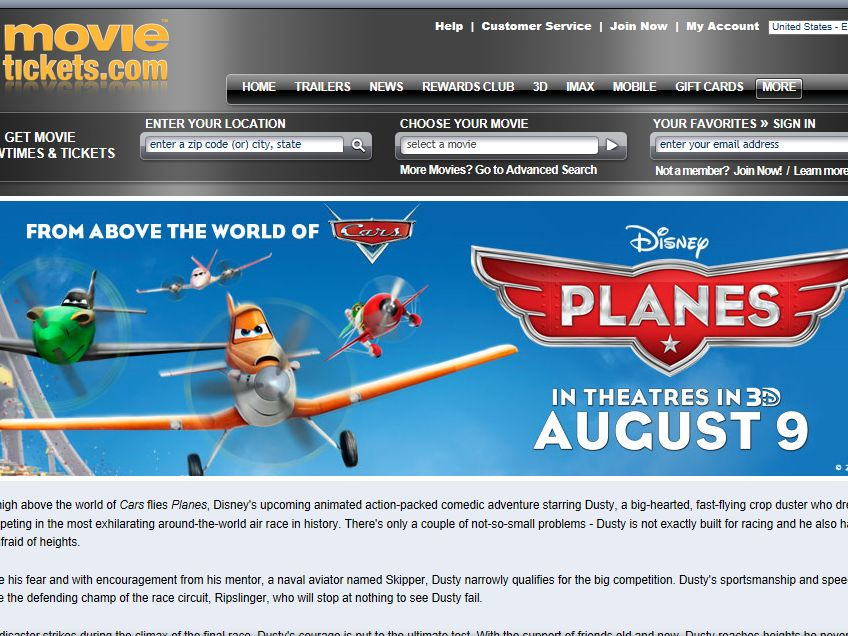 """""""Planes"""" Sweepstakes"""