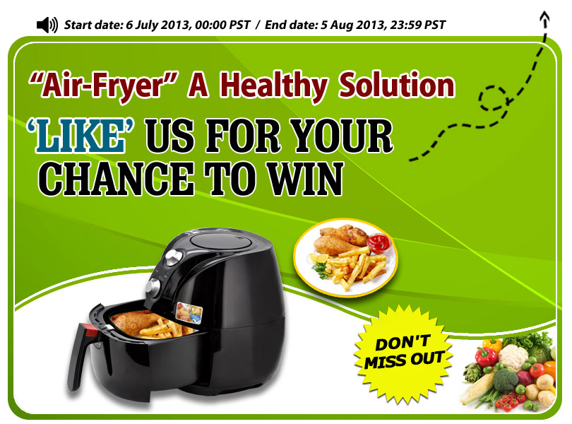 Like us for your chance to win an air fryer!