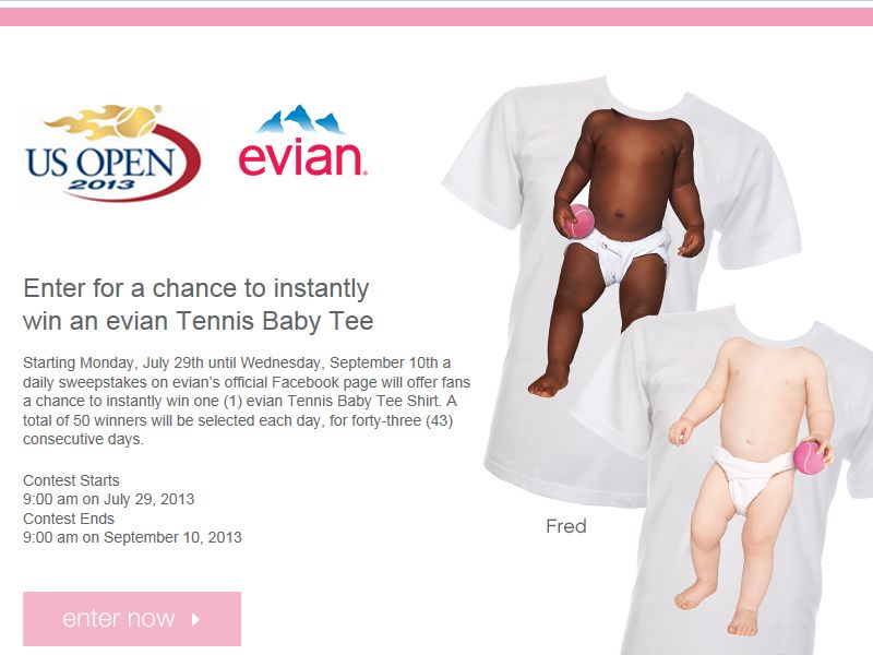 Evian Instant Win Sweepstakes