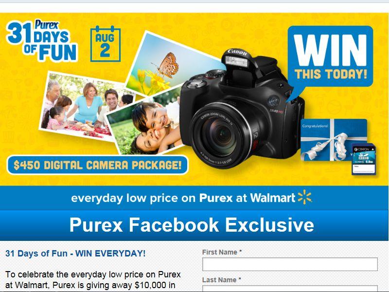 Purex 31 Days of Fun Sweepstakes