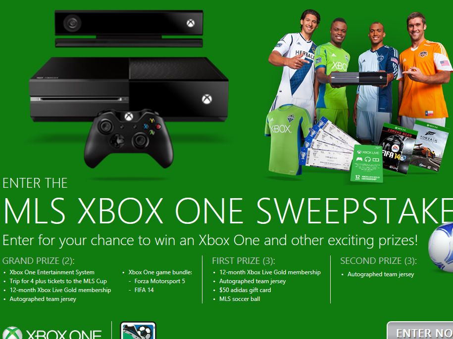 2013 MLS and Xbox One Sweepstakes