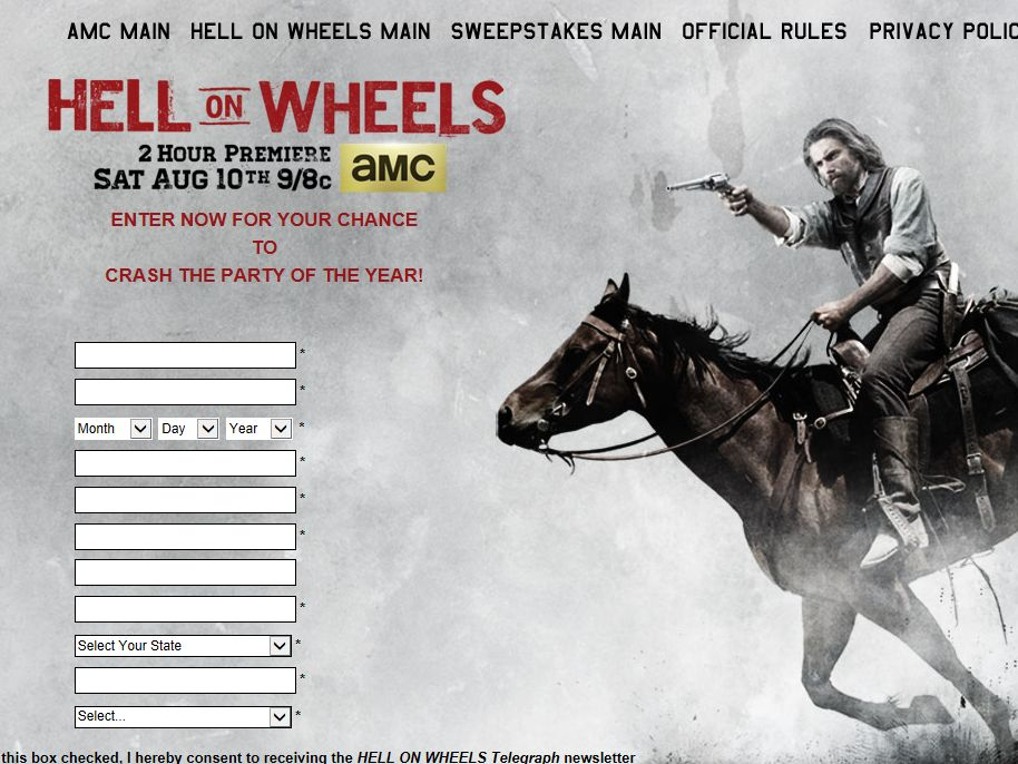AMC Raise Hell in Nashville Sweepstakes