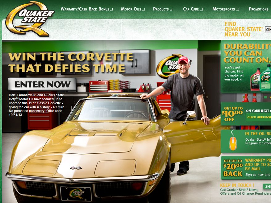 "2013 Quaker State ""Defy My Ride"" Sweepstakes"