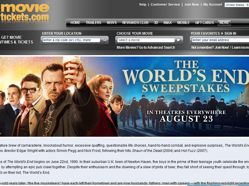The World's End Epic Trilogy Sweepstakes