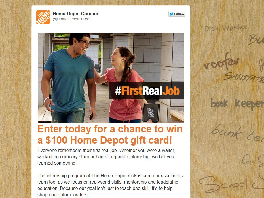 Home Depot Life Lessons Giveaway