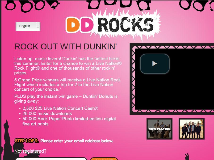 Dunkin' Rocks Summer Sweepstakes