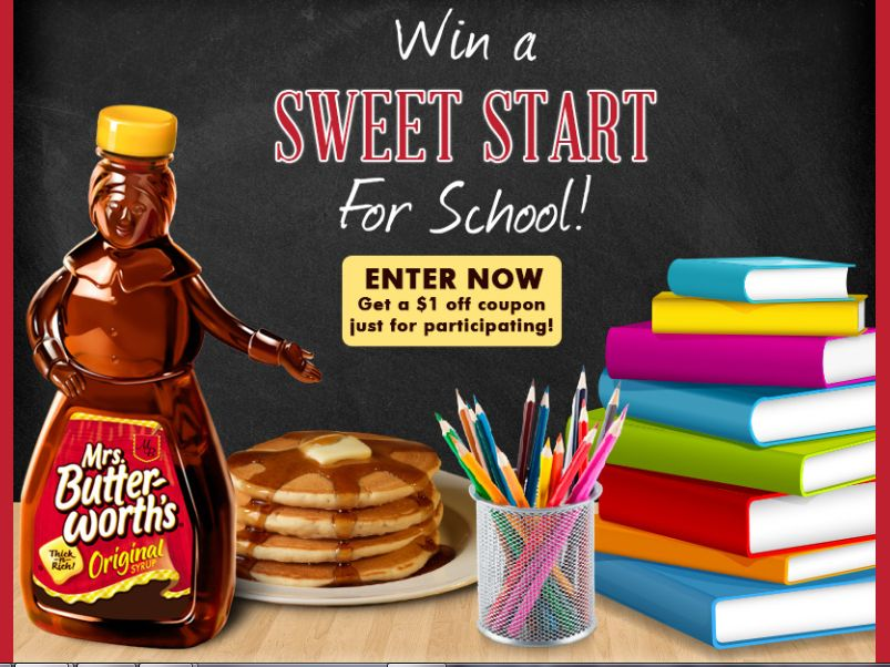 Mrs. Butterworth's Back-to-School Sweepstakes