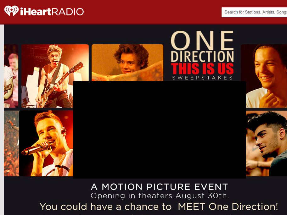 Clear Channel's One Direction: This Is Us Sweepstakes