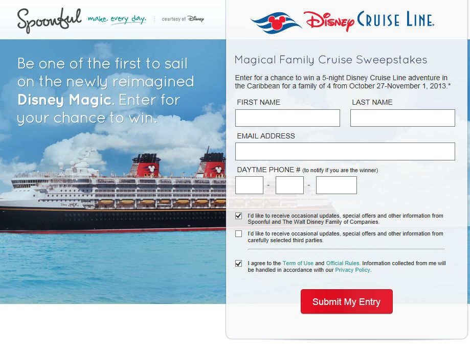 Magical Family Cruise Sweepstakes