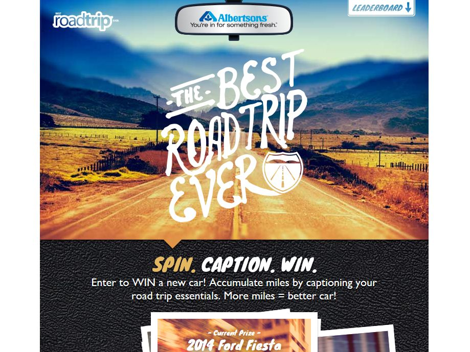 "Albertsons ""Best Road Trip. Ever!"" Sweepstakes"