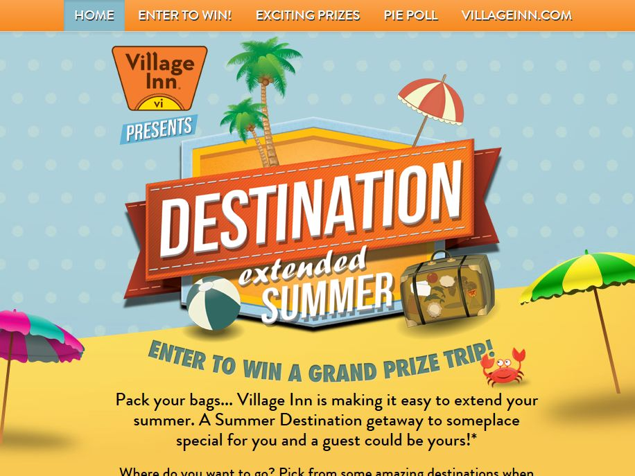 Village Inn Destination Extended Summer Sweepstakes