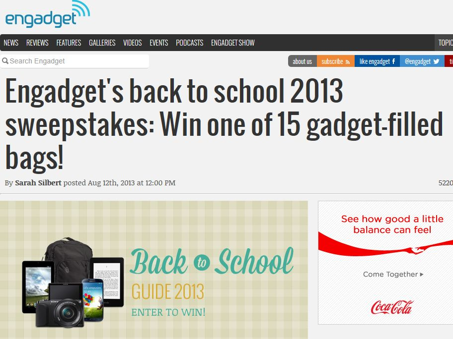 Engadget's Back to School Giveaway