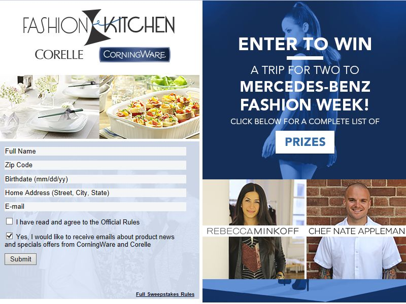Fashion Kitchen Sweepstakes