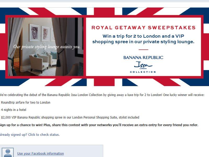 Royal Getaway Sweepstakes