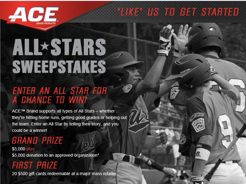 ACE Brand All-Star Sweepstakes