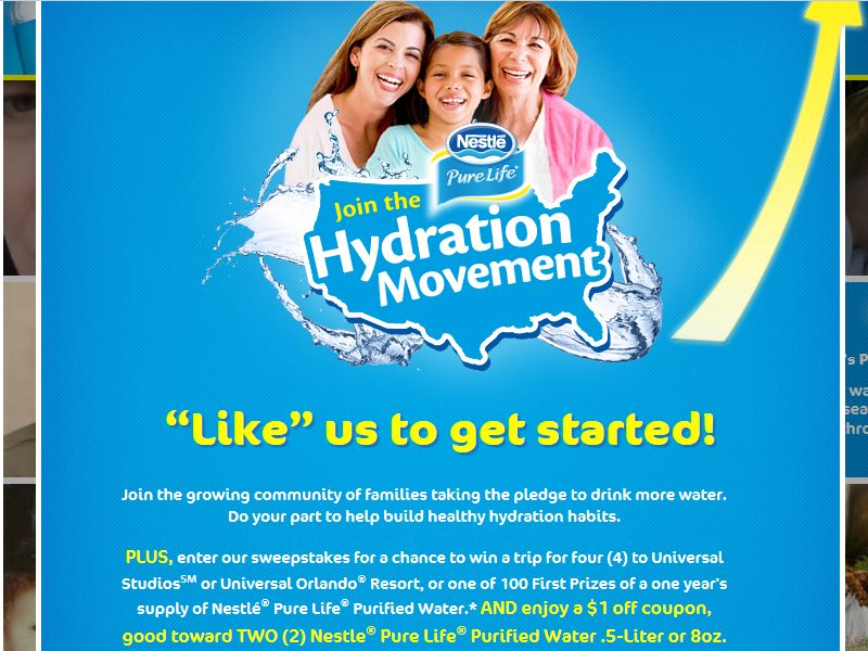 Nestlé Pure Life Hydration Movement 2013: Mom's Wisdom Sweepstakes