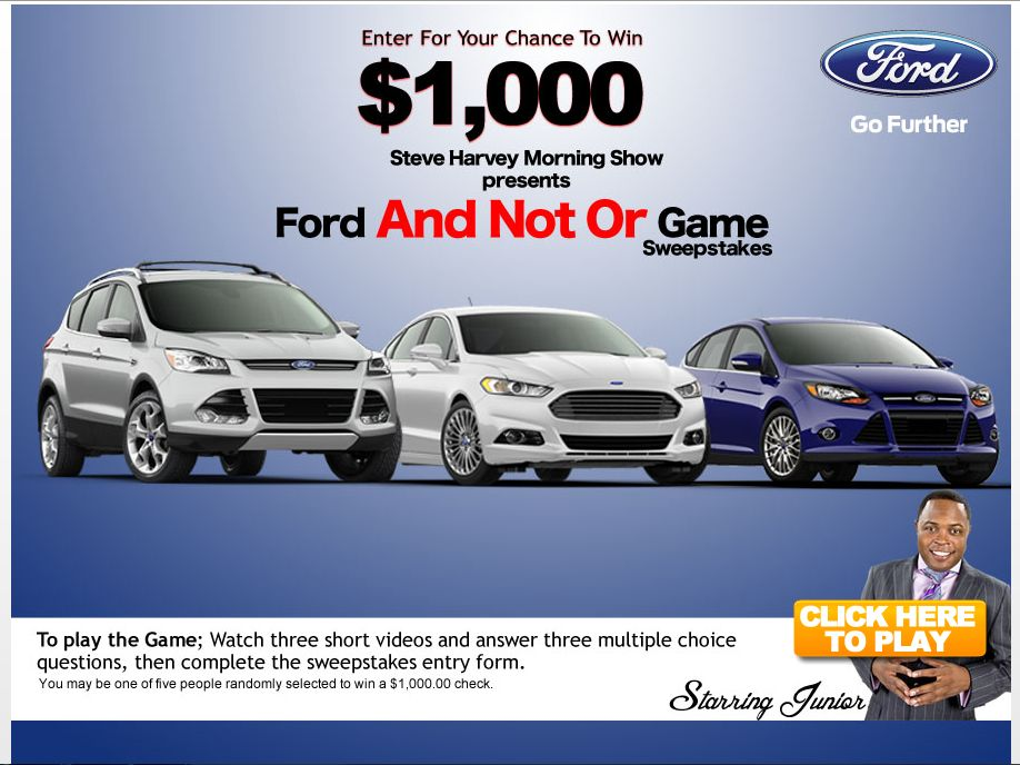 Ford and Not or Game Sweepstakes