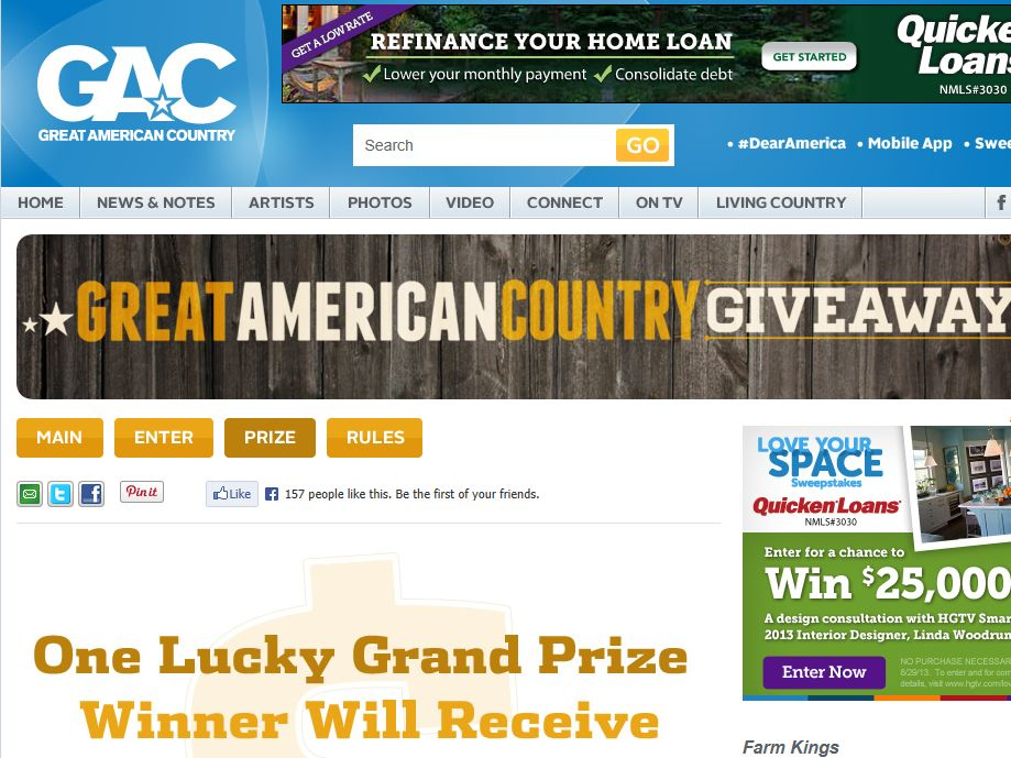 GAC's Great American Country Giveaway