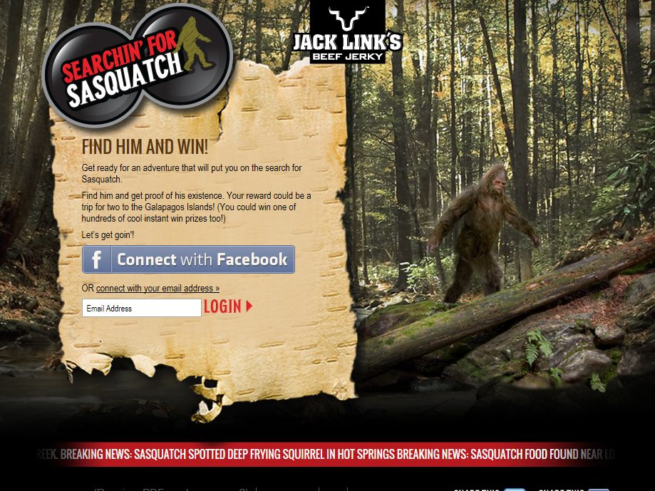 Searchin' for Sasquatch Sweepstakes