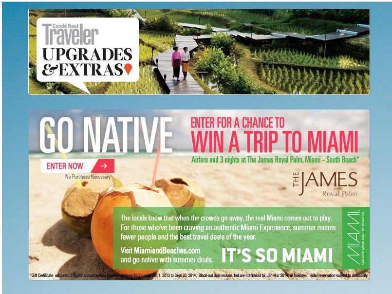 Go Native Miami Sweepstakes