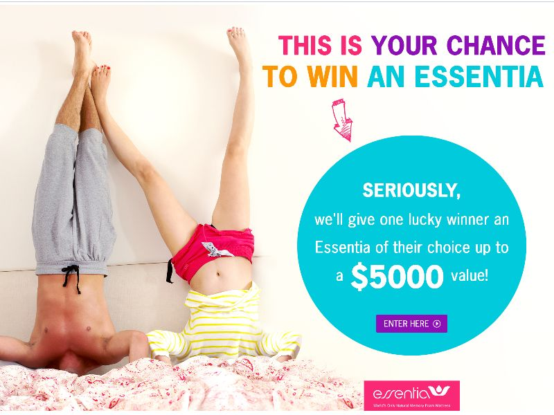 Which Essentia Mattress Would You Take Home Sweepstakes