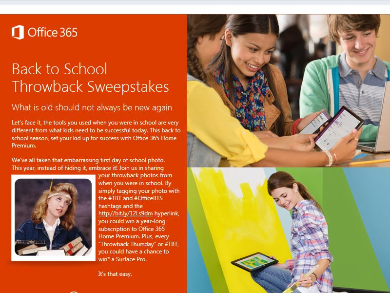 Office Back to School Throwback Sweepstakes
